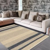 Fields Ebony Striped Rug By Asiatic