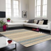 Fields Sky Striped Rug By Asiatic
