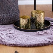 Flamenco FLA 425 Berry Shaggy Circle Rug by Unique Rugs