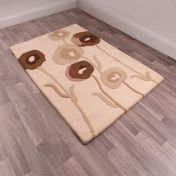 Floral Art Sovereign Chocolate Wool Rug by Ultimate Rug