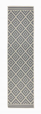 Florence Alfresco Moretti Beige Anthracite Geometric Runner by Flair Rugs
