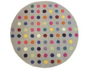 Funk Spotty Multi Circle Rug By Asiatic