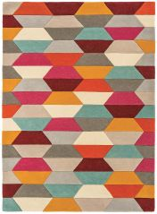 Funk Honeycomb Bright Geometric Rug By Asiatic