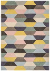 Funk Honeycomb Pastel Geometric Rug By Asiatic