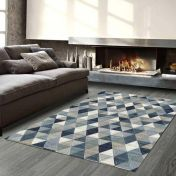 Galleria 063 0263 5161 Blue Geometric Rug by Mastercraft