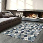 Galleria 063 0263 5161 Blue Geometric Rug by Mastercraft