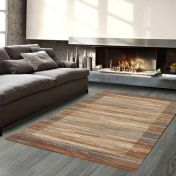 Galleria 079 0138 6888 Rust Beige Bordered Rug by Mastercraft