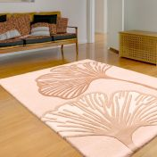 Gem Beige Floral Wool Rug By Ultimate Rug