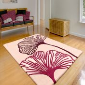 Gem Plum Floral Wool Rug By Ultimate Rug