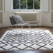 Hackney Kelim Diamond Mono Rug By Asiatic