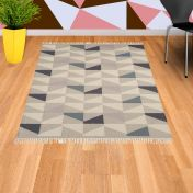 Hackney Kelim Geo Heather Rug By Asiatic