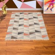 Hackney Kelim Geo Melon Rug By Asiatic