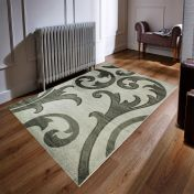 Hand Carved Elude Grey Modern Rug By Flair Rugs