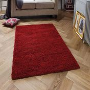 Harmony Ruby Red Shaggy Rug by Oriental Weavers