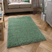 Harmony Sage Green Shaggy Rug by Oriental Weavers