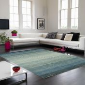 Hays Blue Striped Rug By Asiatic
