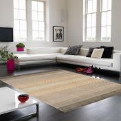 Hays Taupe Striped Rug By Asiatic