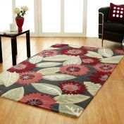 Unique Heaven Floral Design Wool Rug by Prestige