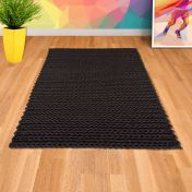 Helix Charcoal Wool Rug by Asiatic