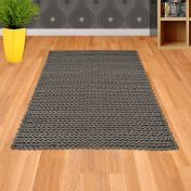 Helix Grey Wool Rug by Asiatic