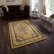Heritage 4400 Beige Traditional Runner By Think Rugs
