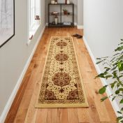 Heritage 4400 Cream Red Traditional Runner By Think Rugs