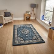 Heritage 4400 Dark Blue Traditional Runner By Think Rugs