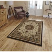 Heritage 4400 Black Cream Traditional Runner By Think Rugs