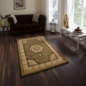 Heritage 4400 Green Traditional Rug By Think Rugs
