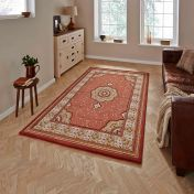 Heritage 4400 Terracotta Traditional Rug By Think Rugs