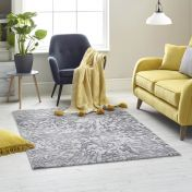 High Rise 6321A Dark Grey Light Grey Abstract Rug by Mastercraft