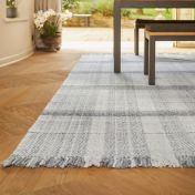 Highland Check Light Grey Geometric Rug by Origins