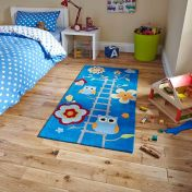 Hong Kong HK5648 Blue Children Rug By Think Rugs