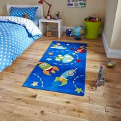Hong Kong HK6149 Blue Children Rug By Think Rugs