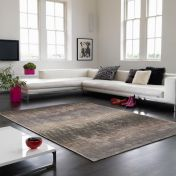 Holborn Midas Striped Contemporary Rug by Asiatic