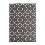 Indonesia Batu Grey Modern Runner by Unique Rugs