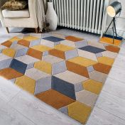 Infinite Scope Ochre Geometric Rug by Flair Rugs