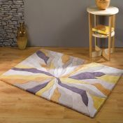 Infinite Splinter Ochre Abstract Circle Rug by Flair Rugs