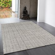 Ives Black/White Classic Abstract Rug by Asiatic