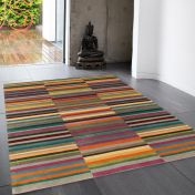 Jacob Multi Striped Rug By Asiatic
