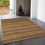 Joseph Ginger Striped Soft Wool Rug by Asiatic