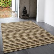 Joseph Natural Striped Soft Wool Rug by Asiatic