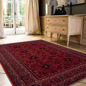 Kashqai 4302 300 Red Traditional Wool Rug By Mastercraft