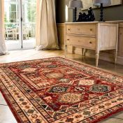 Kashqai 4306 300 Red Terracotta Traditional Wool Rug By Mastercraft