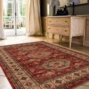 Kashqai 4317 300 Terracotta Traditional Wool Rug By Mastercraft