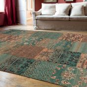 Kashqai 4327 400 Blue Traditional Wool Rug By Mastercraft