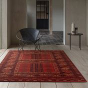Kashqai 4346 300 Red Traditional Wool Rug By Mastercraft