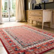 Kashqai 4301 300 Red Traditional Wool Rug By Mastercraft