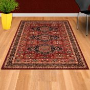 Kashqai 4308 300 Red Traditional Wool Rug By Mastercraft