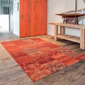 Kashqai 4327 300 Terracotta Traditional Wool Rug By Mastercraft